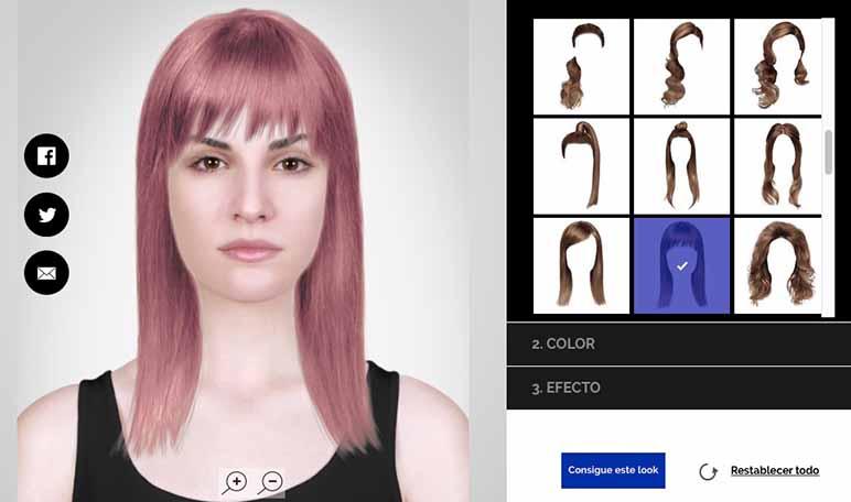 Style My Hair, una herramienta de cambio de look on-line - ¡Siéntete Guapa!